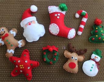 Free Felt Xmas Ornament Patterns The Christmas Tree