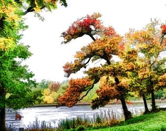 Lake of the Woods, Kansas City, Pastel Sketch effect