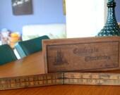 Vintage Wooden Folding Ruler