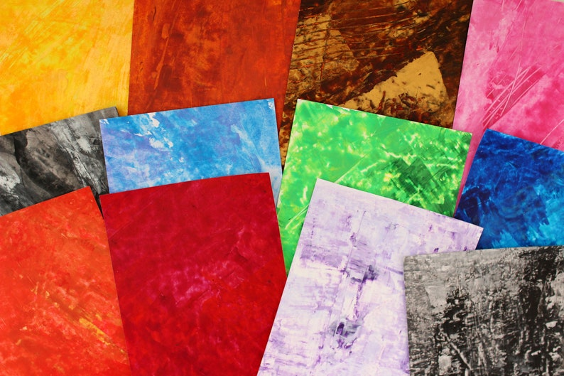 Multicoloured Scrap Paper Pack A5 assorted papers for junk journal  card making  scrapbook  collage collage papers grab bag