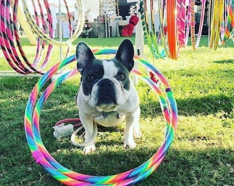 """Folding 34"""" Rainbow Hoop for All Ages"""