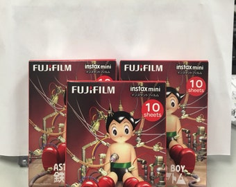 FujiFilm Instax Mini Picture Fuji Instant Film Photo 30 Shots 3 Packs x 10 sheets Astro Boy FujiFilm Fuji Instax Mini Polaroid 7S 8 25 70