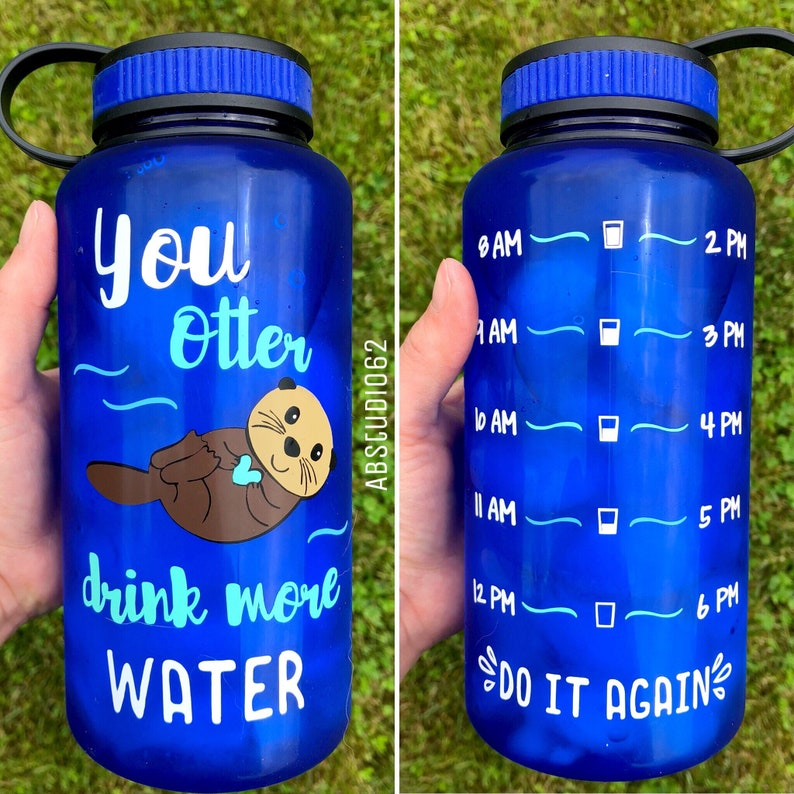 d7efffa956 Otter Drink Your Water Otter Water Bottle Motivational Water | Etsy