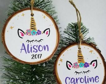 Unicorn Ornament Personalized, Unicorn Christmas Ornament, Little Girl Ornament Personalized, Unicorn Decoration