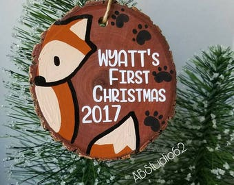 Baby's First Christmas Ornament, Personalized Custom Christmas Ornament, 1st Christmas Ornament, First Ornament, New Baby Ornament
