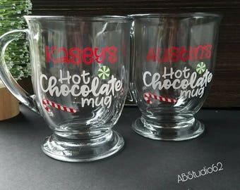 Hot Chocolate Mug, Personalized Christmas Mug, Hot Chocolate Mug, Stocking Stuffer, Mugs for Children, Cocoa Lover Mug,  Christmas Gift
