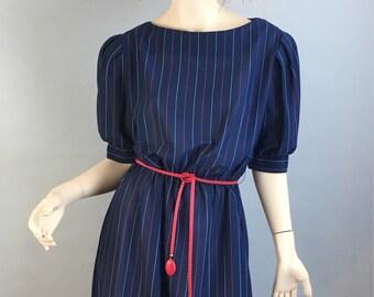 Vintage 80s Dress// 80s Secretary Dress// Vintage 80s Power Dress