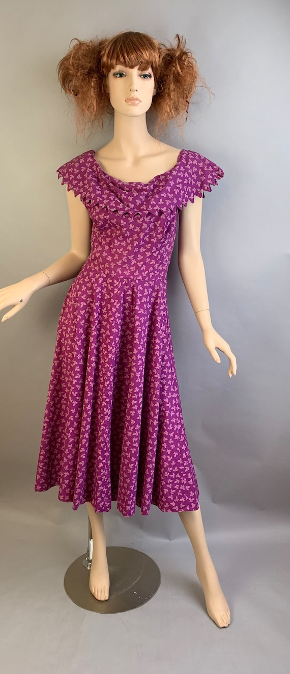 50s Circle Dress// Carolyn Schnurer Dress// Vintag