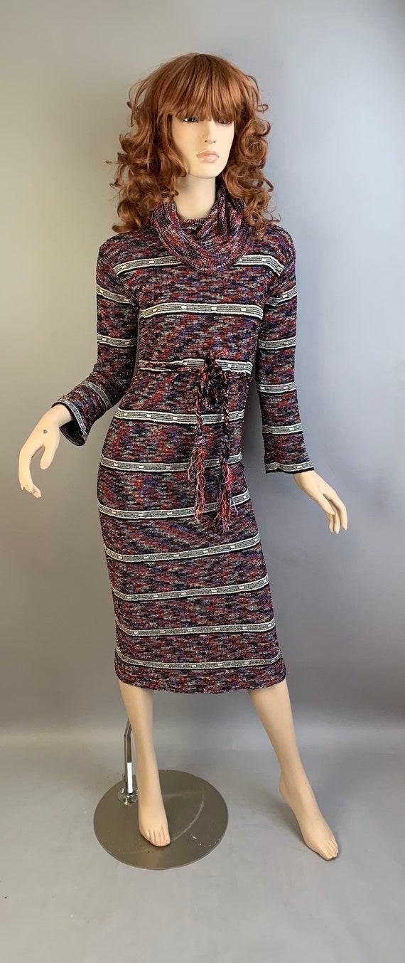 Vintage Disco Dress// 70s Maxi Dress// Vintage 70s