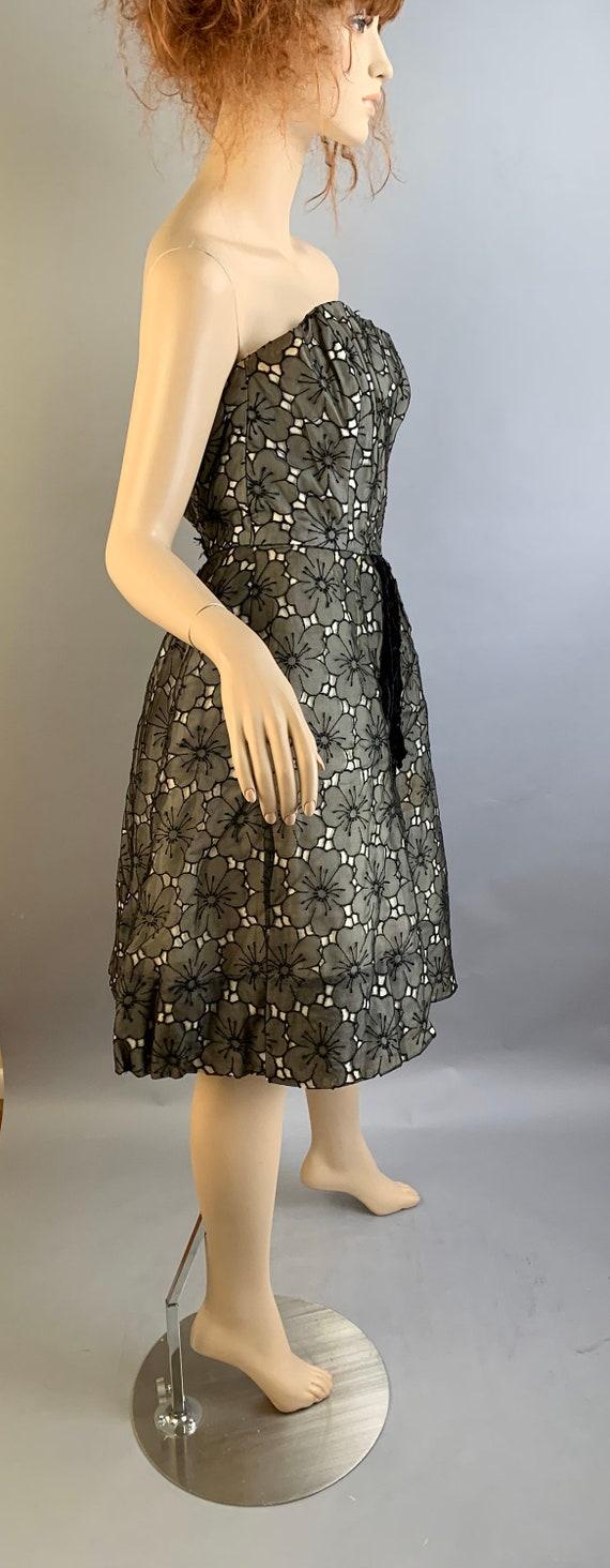 Vintage 50S Halter Dress// Strapless 50S Dress// … - image 4