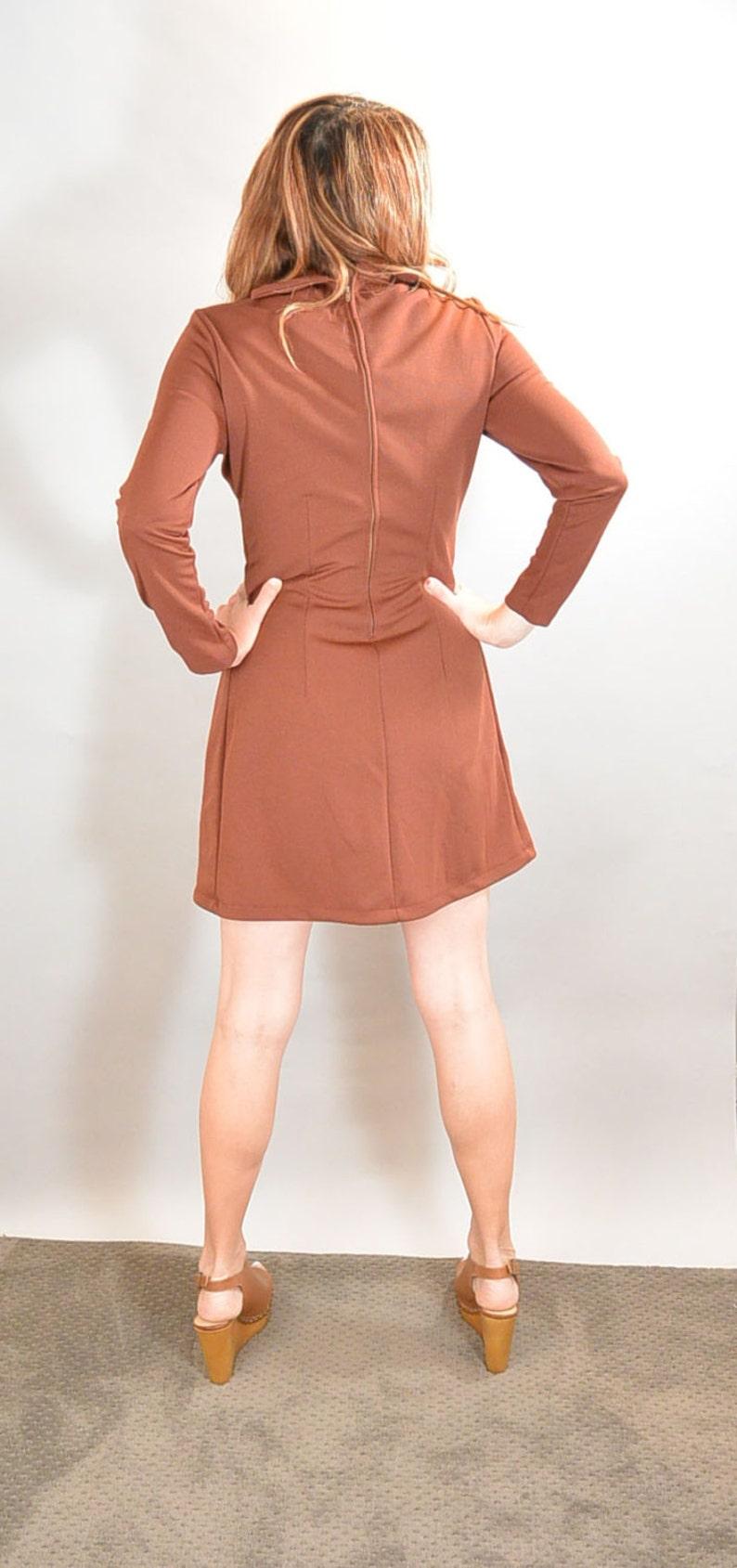 F1 60s Mod Brady Bunch Dress Mini Shift Dress Gogo Dancer Dress