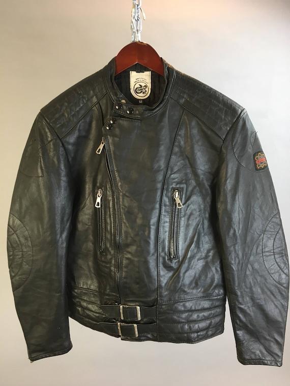 Mens Vintage Motorcycle Jacket // Vintage Leather