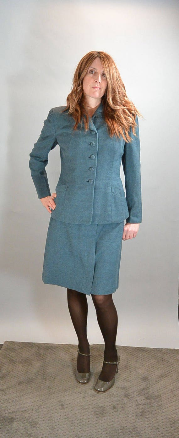 40s Skirt Suit// Rockabilly Jacket and Skirt Set//
