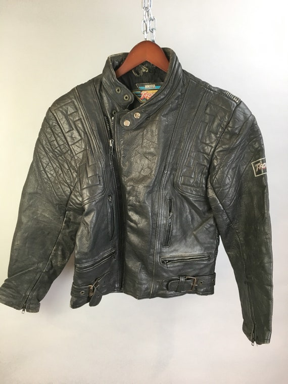 Vintage Motorcycle Jacket// 80s Cafe Racer Jacket/