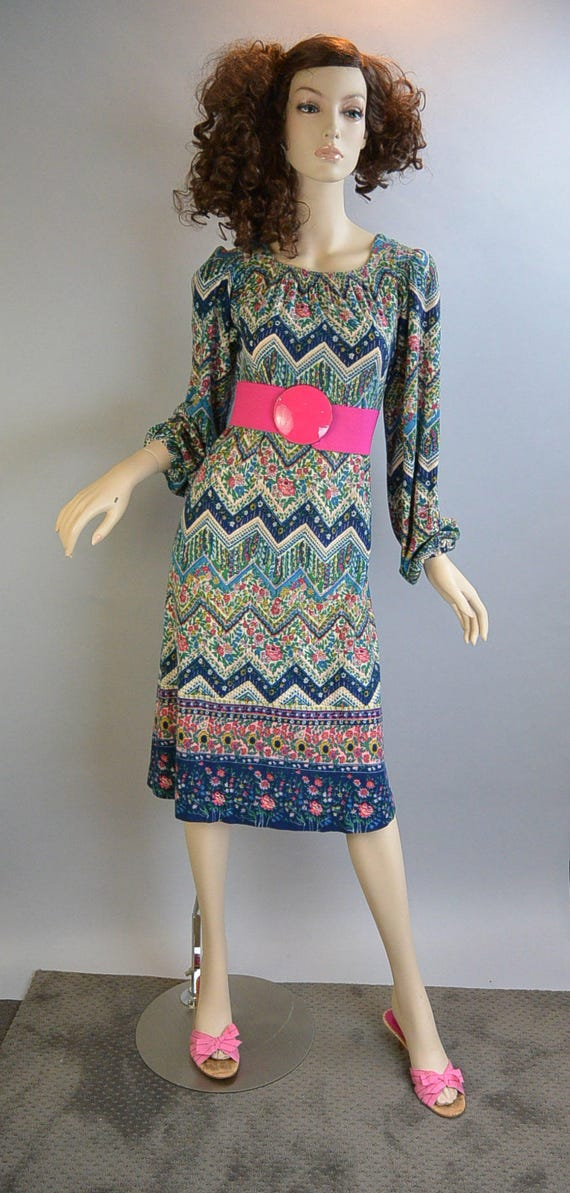 Psychedelic Hippie Dress// Festival Dress/ 60s Hip