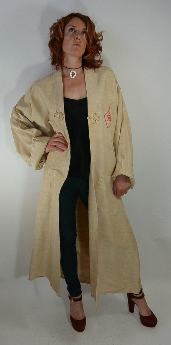 Vintage Kimono Long Jacket//50s Kimono//Vintage Ki