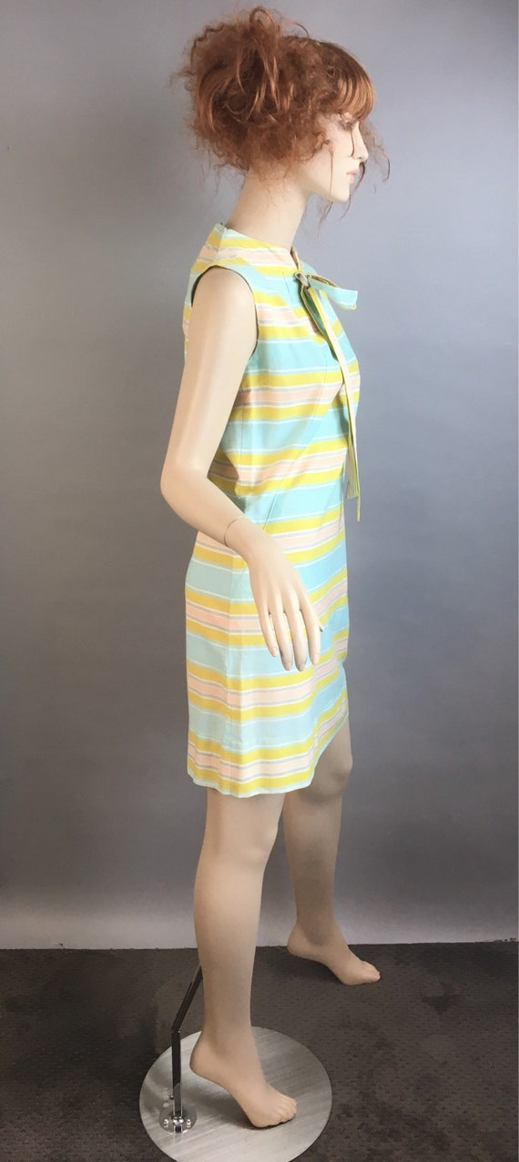 60s Mod Dress// Pastel Mod Shift Dress// Vintage … - image 4