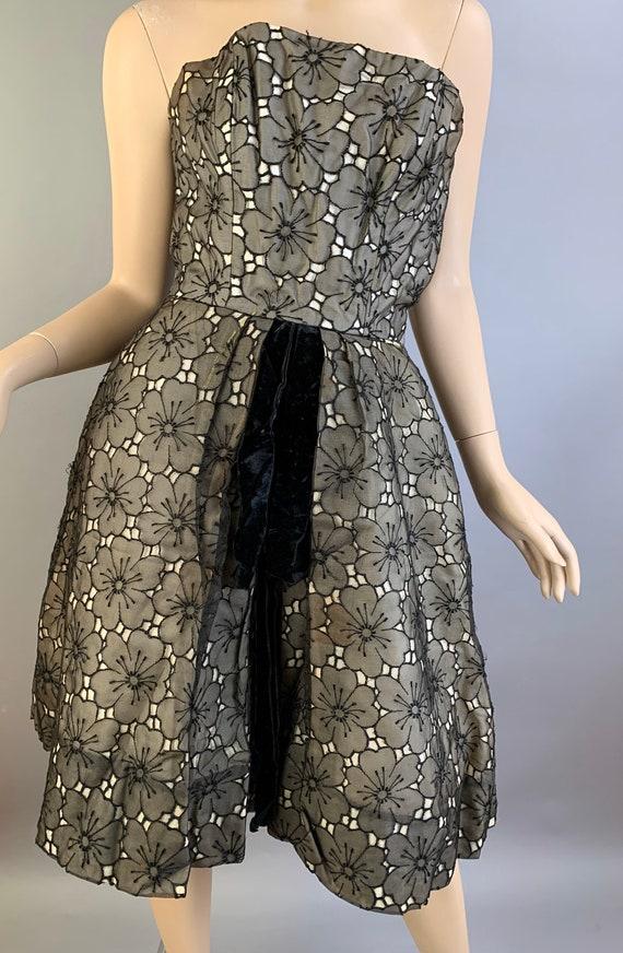 Vintage 50S Halter Dress// Strapless 50S Dress// … - image 6