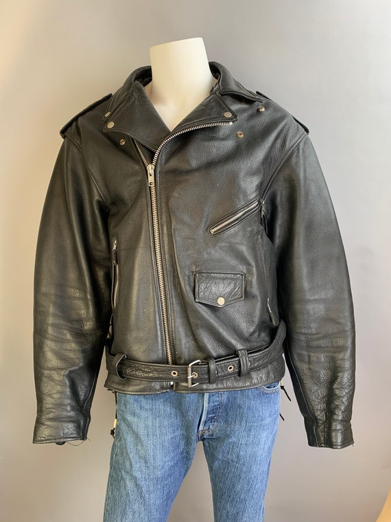 Vintage Motorcycle Jacket// Leather Motorcycle Jac