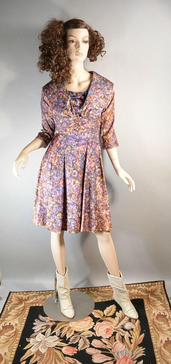 50s Swing Dress// Mad Men Dress// Prom Dress with… - image 2