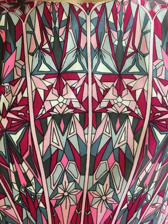 Psychedelic 60s Dress// Pucciesque Vintage Dress/… - image 3