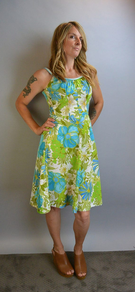 Vintage DeWeese Design Swim Dress// Vintage 60s Sw