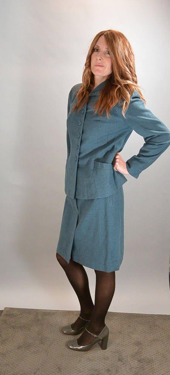 40s Skirt Suit// Rockabilly Jacket and Skirt Set/… - image 2