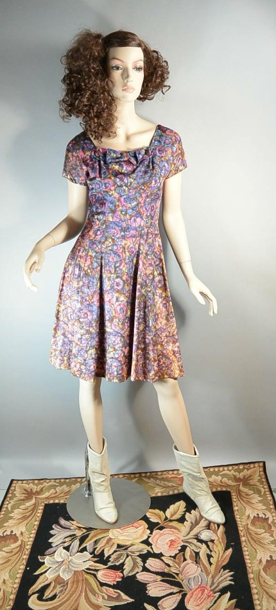 50s Swing Dress// Mad Men Dress// Prom Dress with