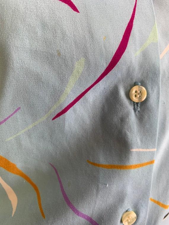 Vintage 70s Shirt Dress// Vintage 70s Dress// Sil… - image 7
