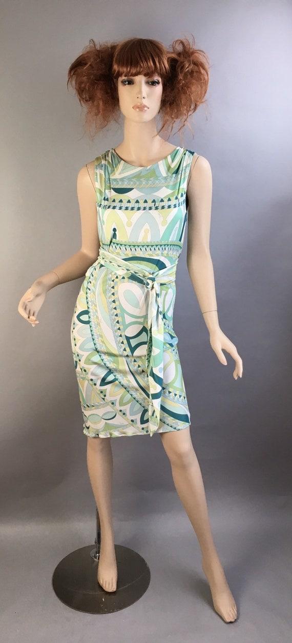 Vintage Emilio Pucci Dress// 60s Mod Psychedelic D
