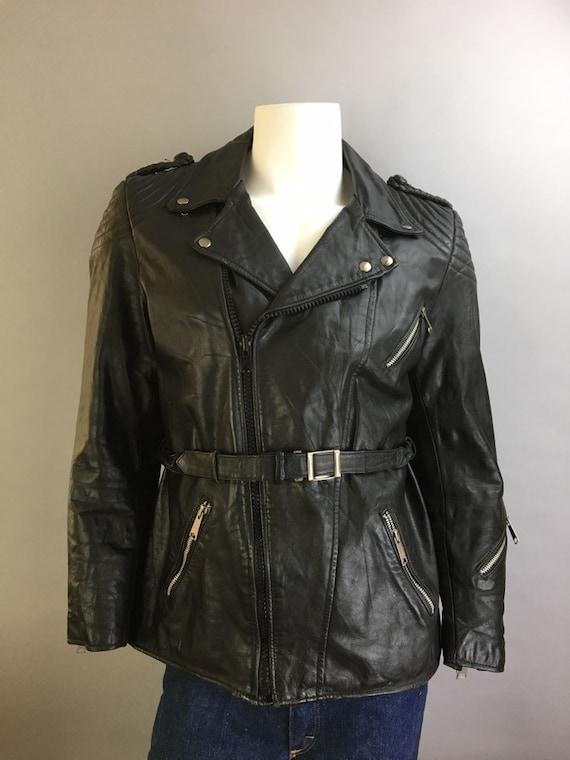 Vintage Motorcycle Jacket// Etches Leder Leather M