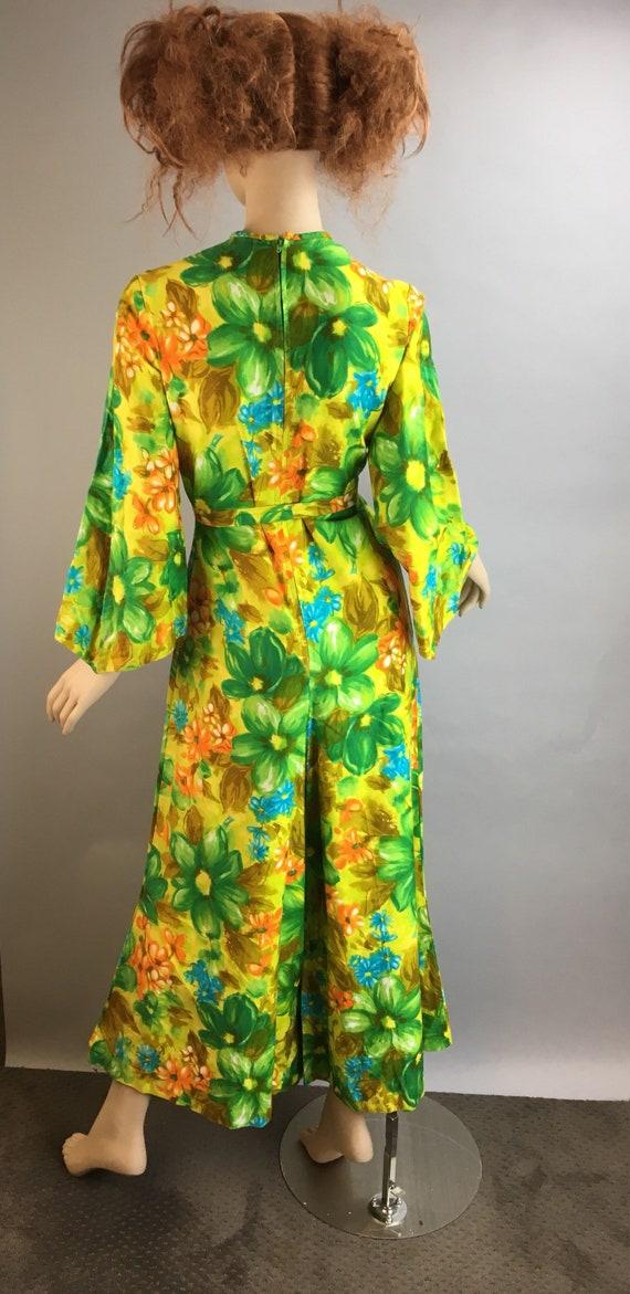 Vintage 60s Jumpsuit// Psychedelic Cotton Jumpsui… - image 6
