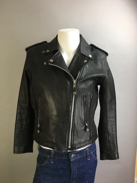 Vintage 80s Motorcycle Jacket//leather Motorcycle