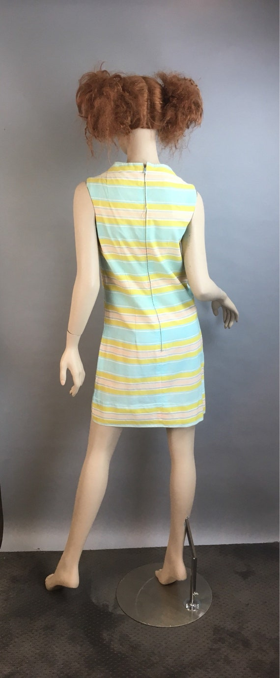 60s Mod Dress// Pastel Mod Shift Dress// Vintage … - image 5