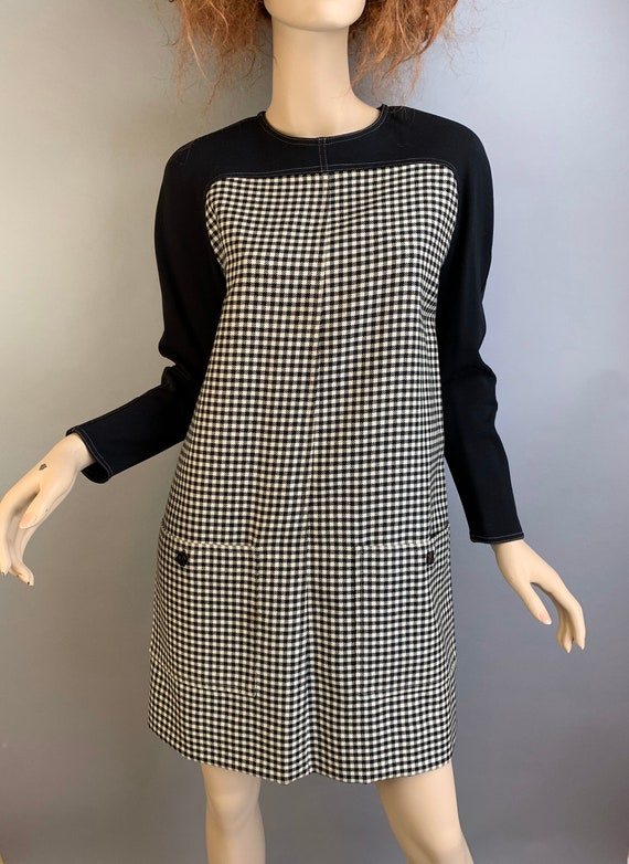 Vintage 60s Courreges Dress// Mod 60s Shift Dress/