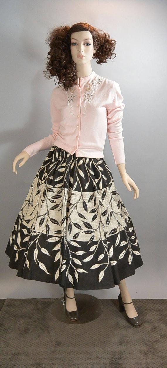50s Circle Skirt// Sequin 50s Skirt// Mad Men Skir