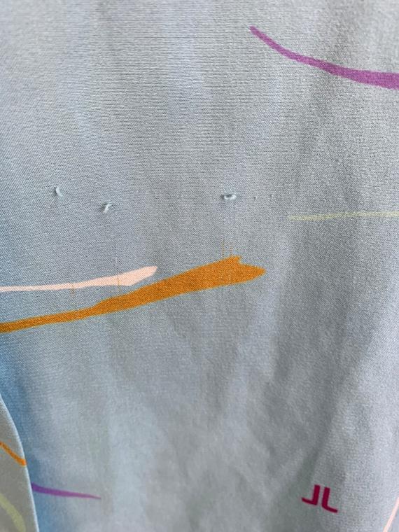 Vintage 70s Shirt Dress// Vintage 70s Dress// Sil… - image 5