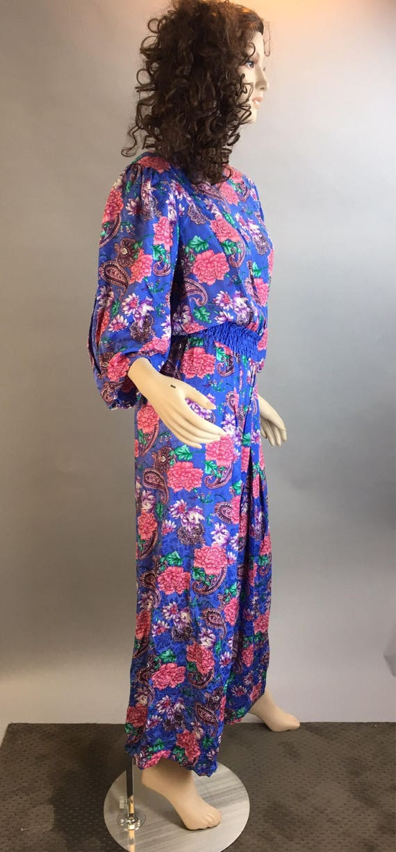 Diane Freis Totally 80s Jumpsuit// All Silk 80s J… - image 4