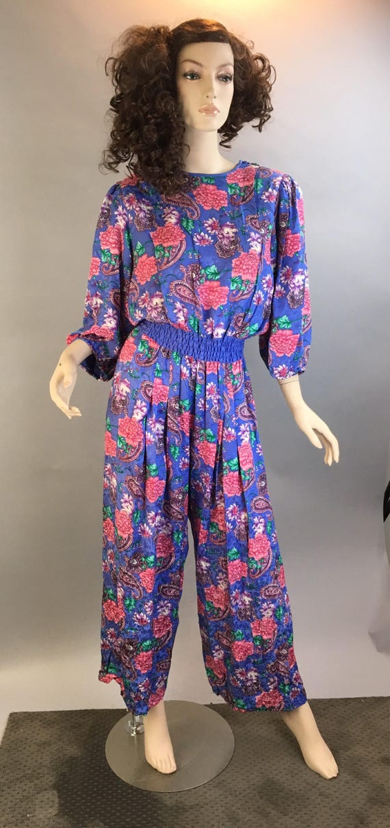 Diane Freis Totally 80s Jumpsuit// All Silk 80s Ju