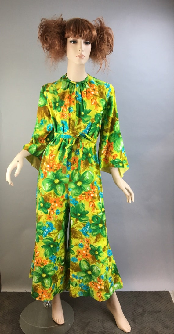 Vintage 60s Jumpsuit// Psychedelic Cotton Jumpsuit