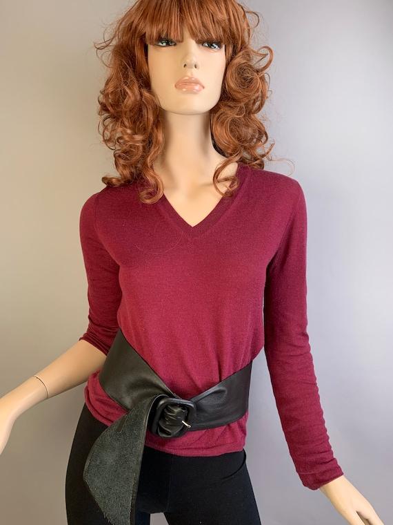 Vintage Miu Miu Sweater// 90s Designer Sweater// P