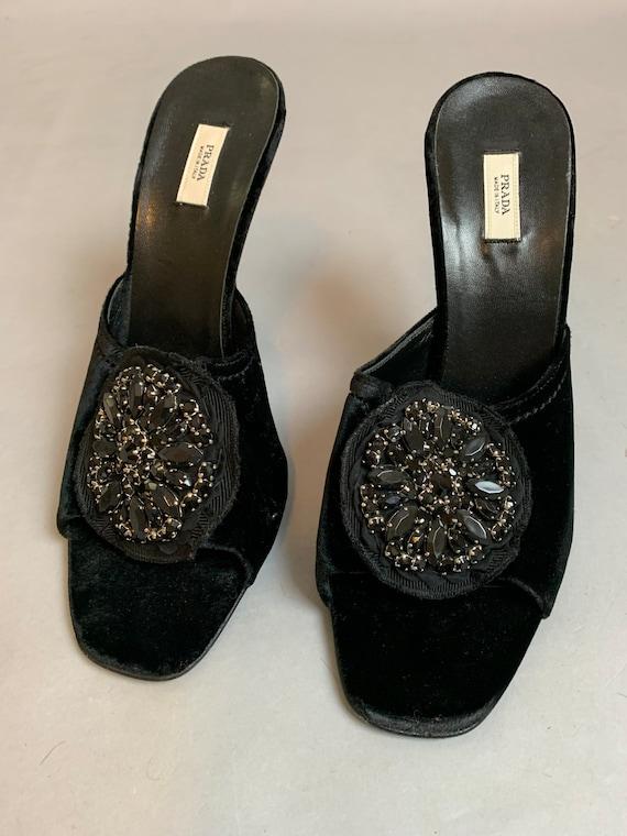 Vintage Prada Shoes// Velvet Designer Slippers// B