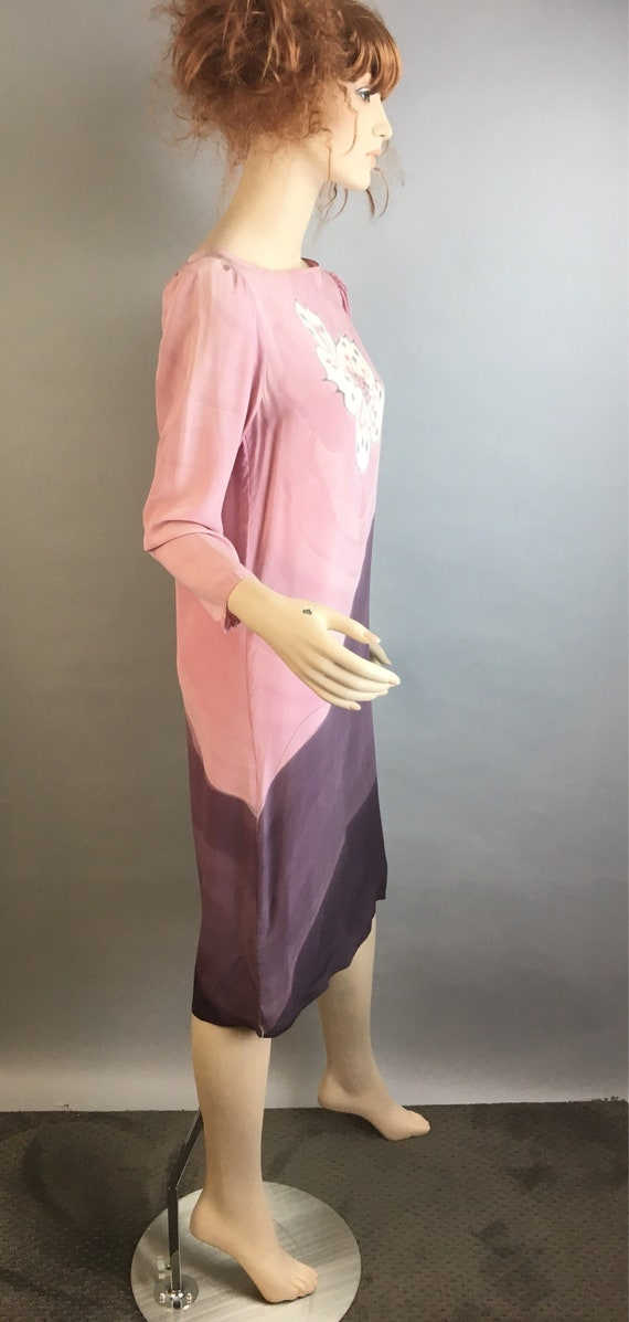 Vintage 80s Shift Dress// 80s Silk Dress// Vintag… - image 4
