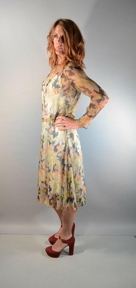 Silk 20s Dress// See Thru Flapper Dress// Lightwei