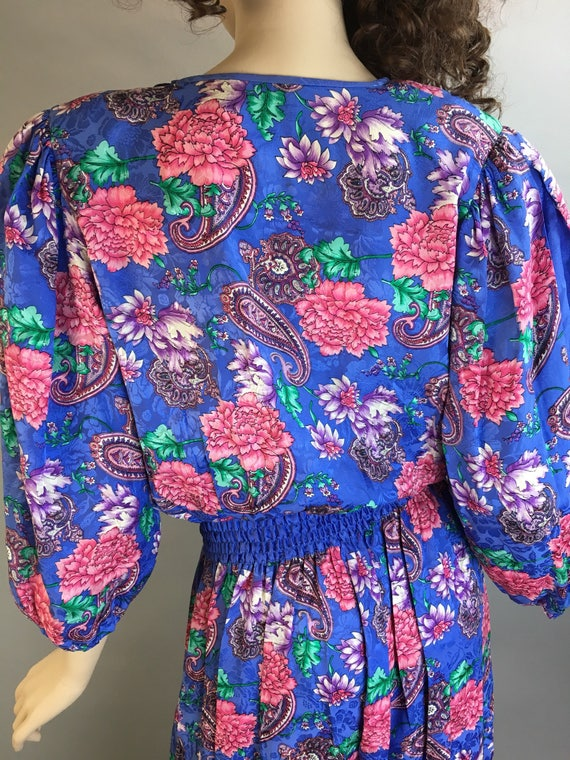 Diane Freis Totally 80s Jumpsuit// All Silk 80s J… - image 7