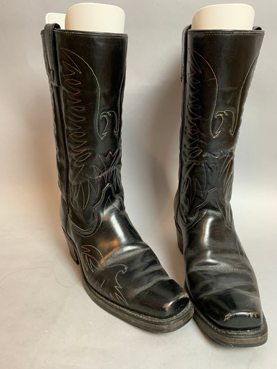Vintage Cowboy Boots// Mens 8.5 Boots// Western Ea