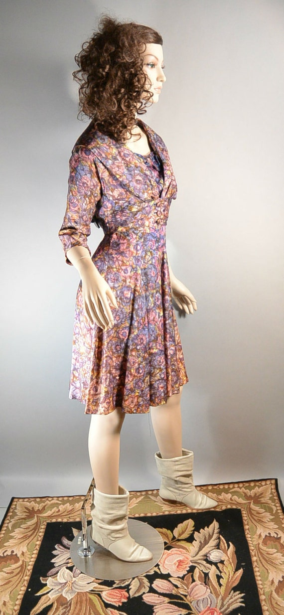 50s Swing Dress// Mad Men Dress// Prom Dress with… - image 3