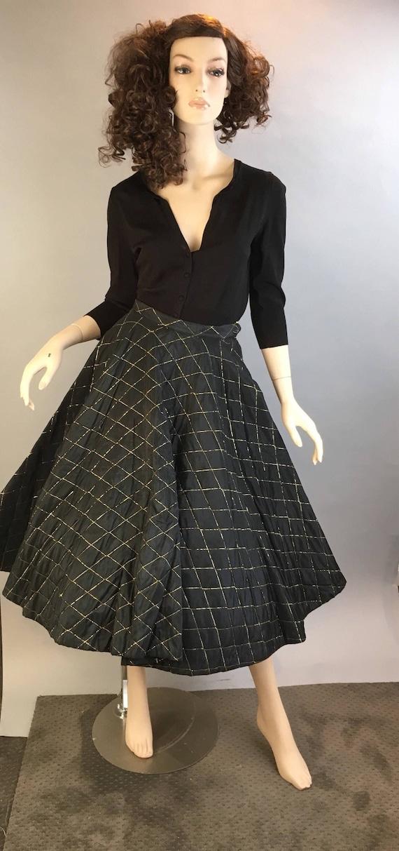 Vintage 50s Skirt// Holiday Circle Skirt // Mad Me