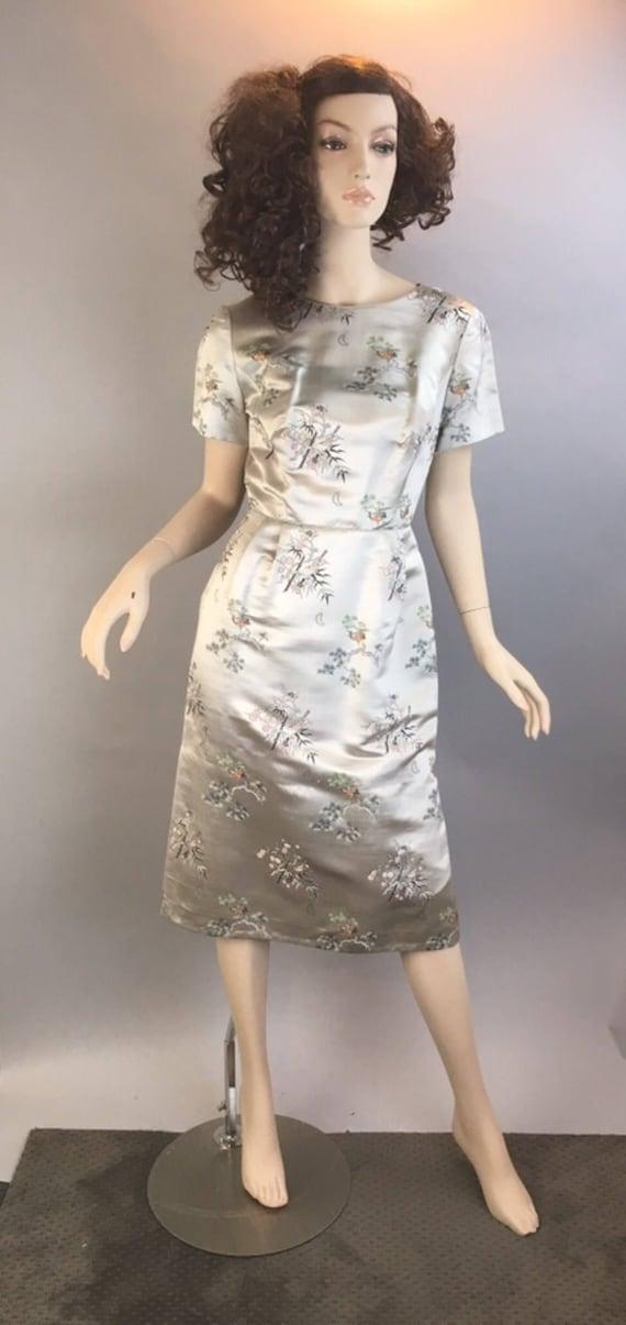 Vintage 60s Chinese Dress// Chinese Wiggle Dress//
