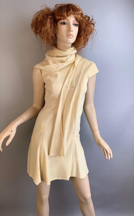 Vintage Pauline Trigere Dress// 60s Designer Gogo